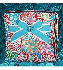 Seaside Bliss Quilted Crossbody with Aqua Trim #SQD1717-AQUA