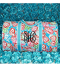 "21"" Seaside Bliss Quilted Duffle Bag with Aqua Trim #SQD2626-AQUA"