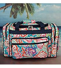 "20"" Seaside Bliss Duffle Bag with Navy Trim #SQD420-NAVY"