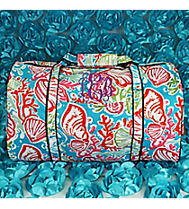 Seaside Bliss Duffle Bag with Navy Trim #SQD632-NAVY