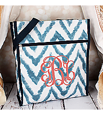 Blue Airbrushed Chevron Shopper Tote #ST13-1330-1