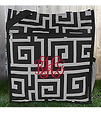 Black and Gray Greek Key Shopper Tote #ST13-704