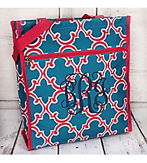 Blue and Pink Moroccan Shopper Tote #ST13-708-BL