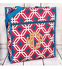 Pink and Blue Diamond Daze Shopper Tote #ST13-709-P