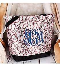Market Shopping Tote in Baseball #ST18-3045