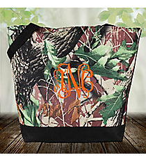 Market Shopping Tote in Camo with Black Trim #ST18-703