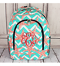 Shorely Chevron Large Backpack with Navy Trim #SUZ403-NAVY