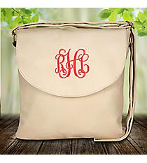 Cream Leather Crossbody Bag #SW180961