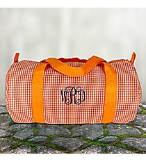 Orange Gingham Duffle Bag #SW181015