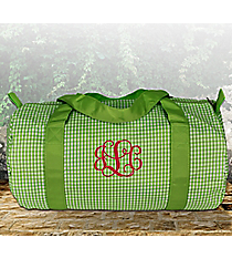 Lime Gingham Duffle Bag #SW181016