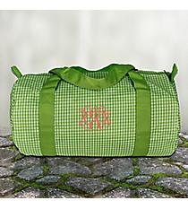 Lime Gingham Duffle Bag #SW181016