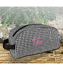 Black Gingham Cosmetic Case #SW181017