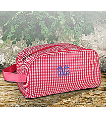 Pink Gingham Cosmetic Case #SW181019