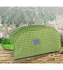Lime Gingham Cosmetic Case #SW181021