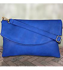 Royal Blue Leather Crossbody Clutch #SW181333
