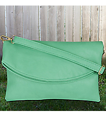 Aqua Leather Crossbody Clutch #SW181337