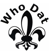 Who Dat Fleur de Lis Vinyl Decoration SY#53 * Choose Your Color