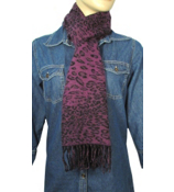 Purple Leopard Scarf #S022