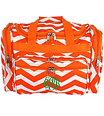 "Orange and White Chevron 16"" Duffle Bag #T16-165-OR/W"