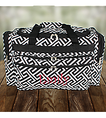 "Black and White Greek Key Maze 22"" Duffle Bag #T22-185-B/W"