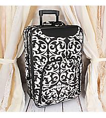 "20"" Black and White Damask Luggage #T6701-501"