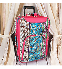 "20"" Bohemian Spirit with Fuchsia Trim Luggage #T6701-647-F"