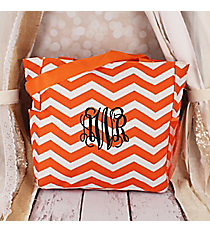 Orange and White Chevron Oversized Tote #TB3015-165-OR/W