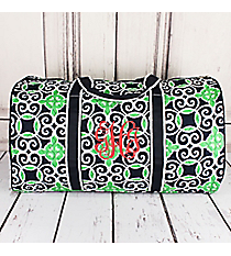 "Navy and Green Celtic Swirl Quilted Duffle Bag 21"" #THQ2626-NAVY"