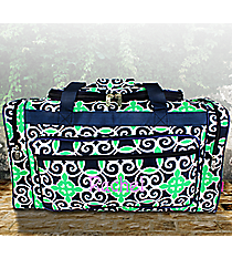 """23"""" Navy and Green Celtic Swirl Duffle Bag #THQ423-NAVY"""