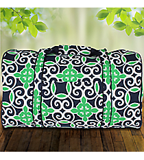 Navy and Green Celtic Swirl Duffle Bag #THQ632-NAVY