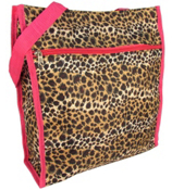 Leopard Print with Pink Trim Shopper Tote #ST13-2008-P