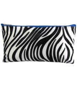 "Zebra with Blue Trim 10"" Pouch #CB8-2006-B"