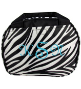 Zebra Bowler Style Insulated Lunch Bag #LT9-2006