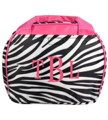 Zebra with Pink Trim Bowler Style Insulated Lunch Bag #LT9-2006-P
