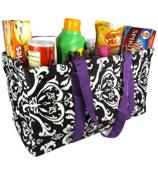 Damask Collapsible Haul-It-All Utility Basket #DMSK401-PURPLE