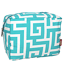 Aqua Greek Key Cosmetic Case #UHA613-AQUA