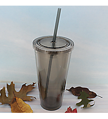 Smoke 24 oz. Double Wall Tumbler with Straw #WA334005-SK