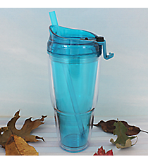 Aqua 22 oz. Double Wall Tumbler with Straw #WA334010-2-AQ