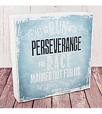 Hebrews 12:1 'Perseverance' Wall Art #WBL009