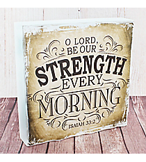 Isaiah 33:2 'Strength' Wall Art #WBL010