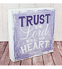 Proverbs 3:5 'Trust' Wall Art #WBL011