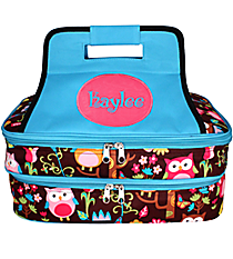 Owl Give a Hoot Insulated Double Casserole Tote #WQL391-TURQ