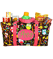 Owl Give a Hoot Collapsible Haul-It-All Utility Basket #WQL401-HPINK