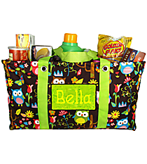 Owl Give a Hoot Collapsible Haul-It-All Utility Basket #WQL401-LIME