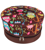 Owl Give a Hoot Insulated Cake Carrier #WQL511-BROWN
