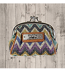 2 Corinthians 5:7 'Faith' Multi-Color Chevron Coin Purse #WT082