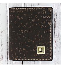 Three Crosses Genuine Leather Tri-Fold Wallet #WT083