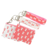 One Pink Ribbon Strapz Wristlet Coin Purse #BCA-WRSCP-SHIPS ASSORTED