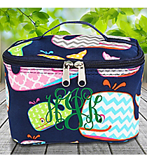 Whimsical Whale Case with Navy Trim #WHA277-NAVY
