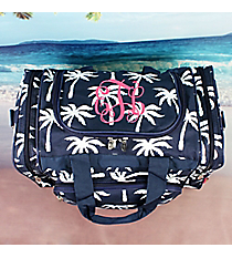 "17"" Navy Paradise Palms Duffle Bag #YAO417-NAVY"